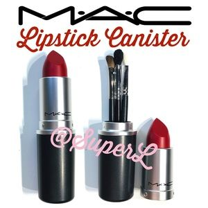MAC Makeup Lipstick Brush Storage Case Canister